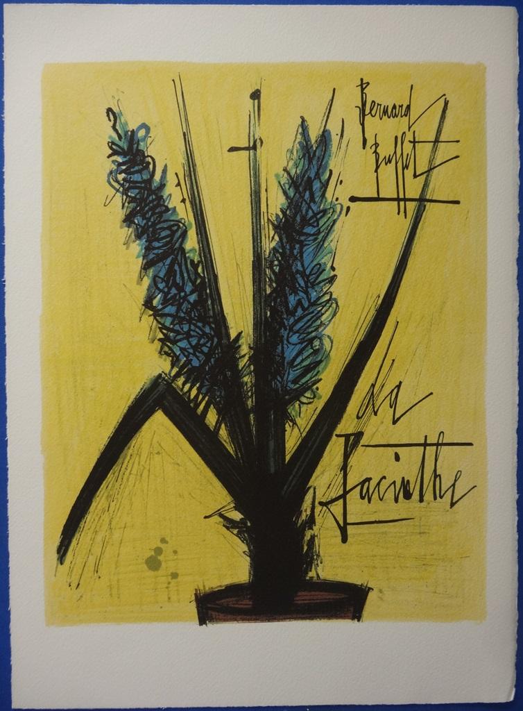 Bernard buffet quot la jacinthe quot lithographie signee arches 45x33cm
