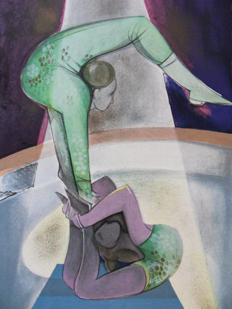 Camille hilaire les contorsionnistes lithographie signee cirque ebay