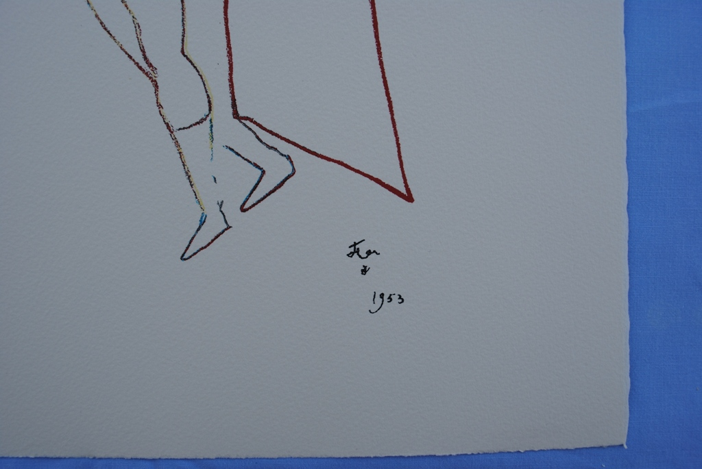 cocteau jean d 39 apr s le tor ro lithographie sign e 1961 200ex ebay. Black Bedroom Furniture Sets. Home Design Ideas