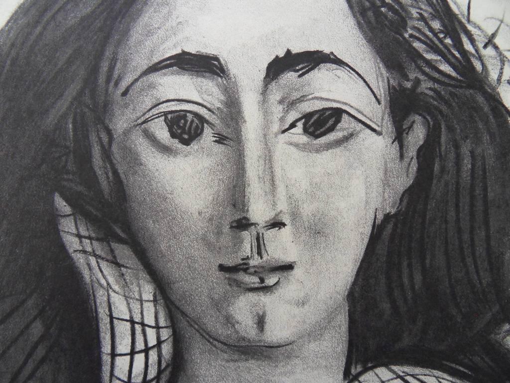 a26e309d962 Picasso Jacqueline Signed Lithograph Mourlot 1963 on PopScreen