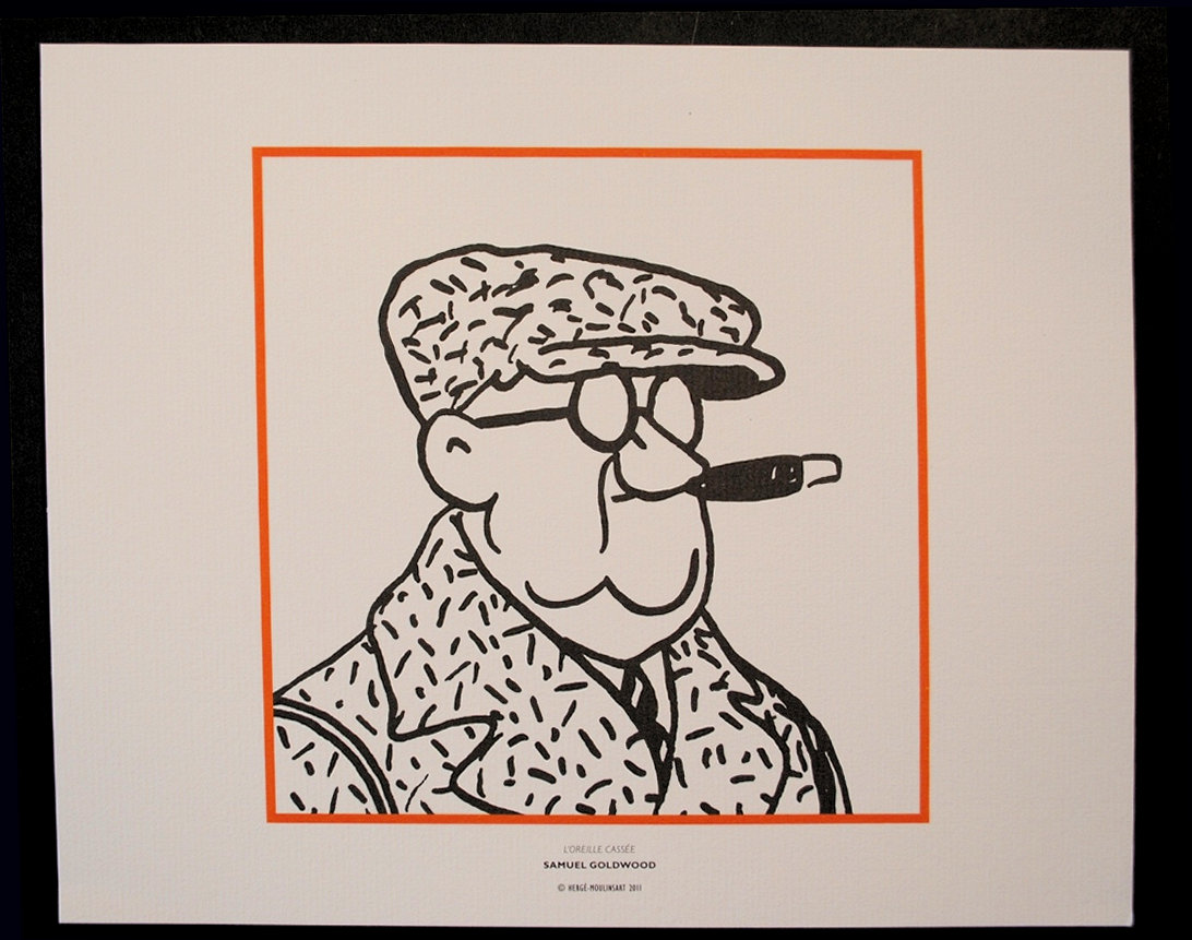 herge d 39 apr s tintin les personnages 7 lithographies n b 2011 ebay. Black Bedroom Furniture Sets. Home Design Ideas
