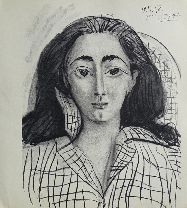 0014023e2c3 Pablo PICASSO   Portrait Jacqueline - LITHOGRAPHY signed  MOURLOT ...